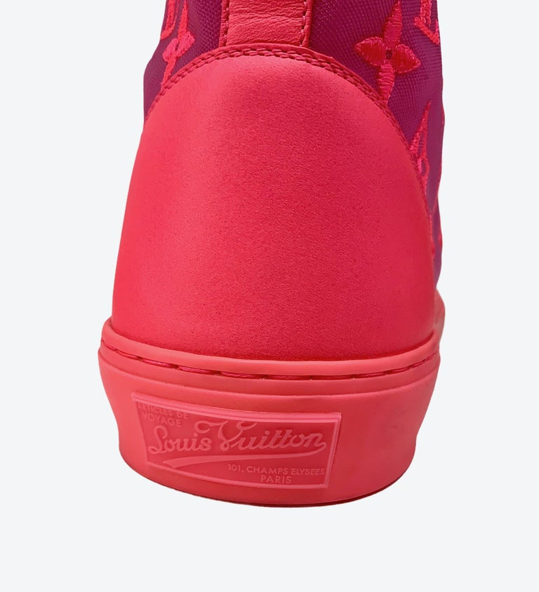 Women's or Men's Louis Vuitton Pink Tattoo Sneakers For Sale