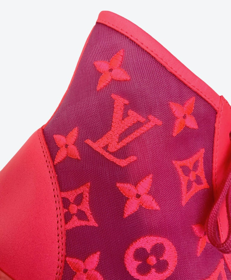 Louis Vuitton Pink Tattoo Sneakers For Sale 1