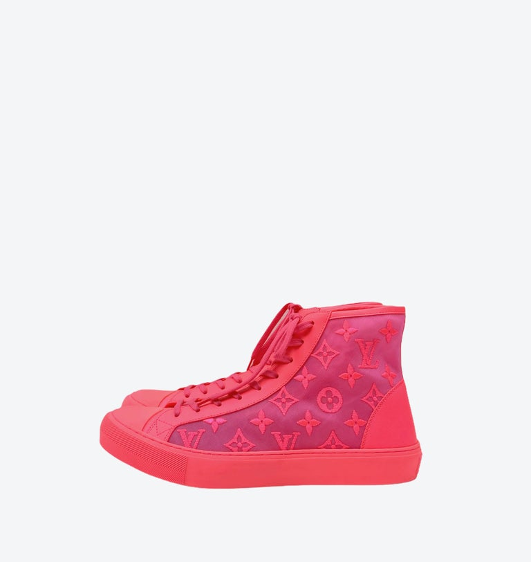 Louis Vuitton Pink Tattoo Sneakers For Sale 2
