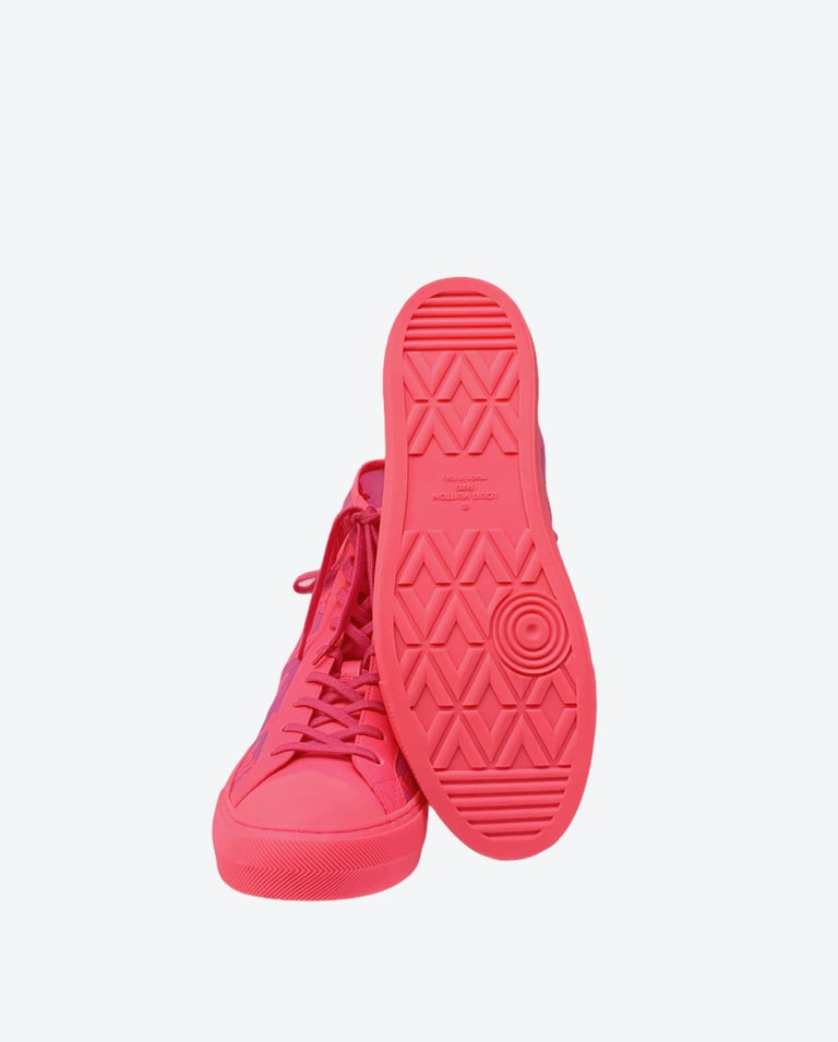 Louis Vuitton Pink Tattoo Sneakers For Sale 5
