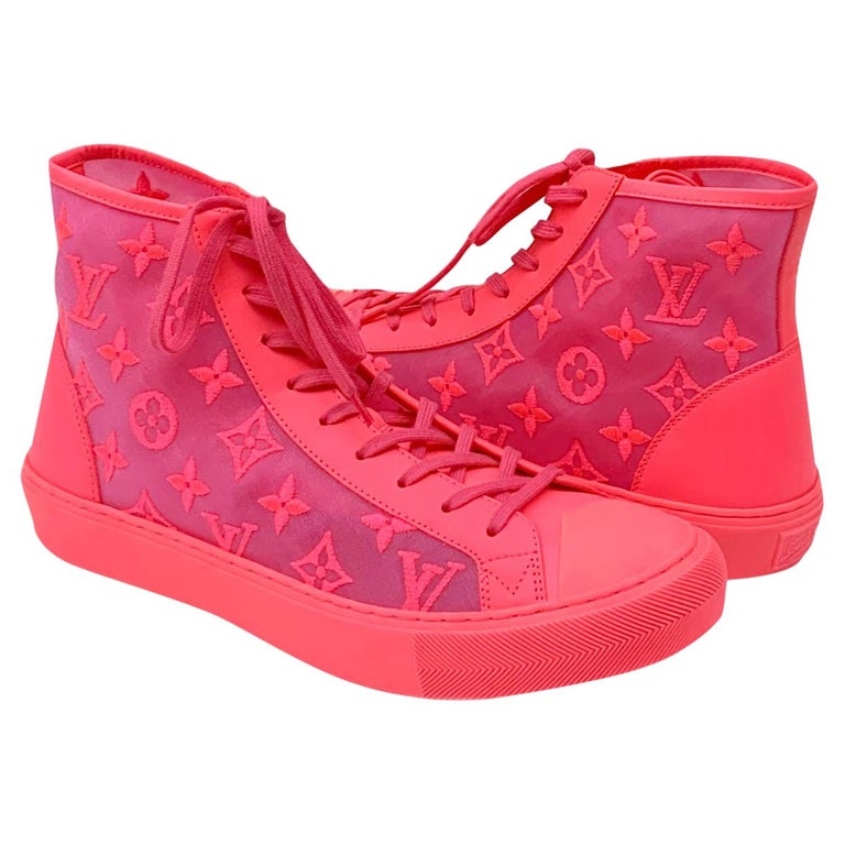 Louis Vuitton Pink Tattoo Sneakers For Sale