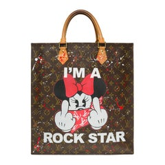 "Louis Vuitton Plat handbag in Monogram canvas customized ""I'm a Rockstar"""