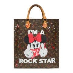 "Louis Vuitton Plat handbag in Monogram canvas customized ""I'm a Rockstar"""