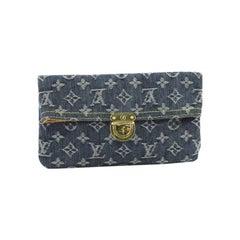 Louis Vuitton Plate Clutch Denim