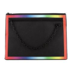 Louis Vuitton Pochette A4 Rainbow Taiga Leather