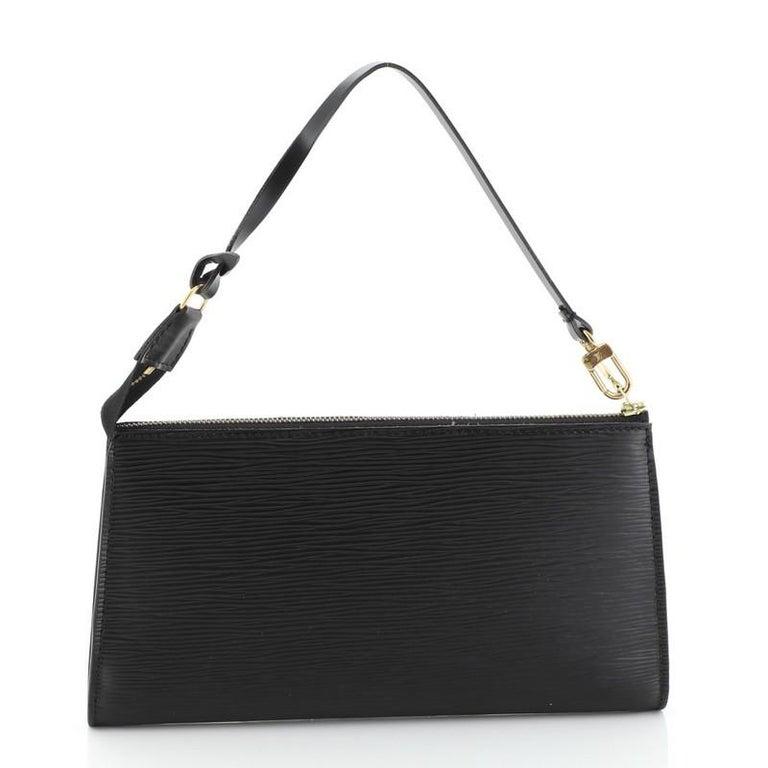 Black Louis Vuitton Pochette Accessoires Epi Leather For Sale