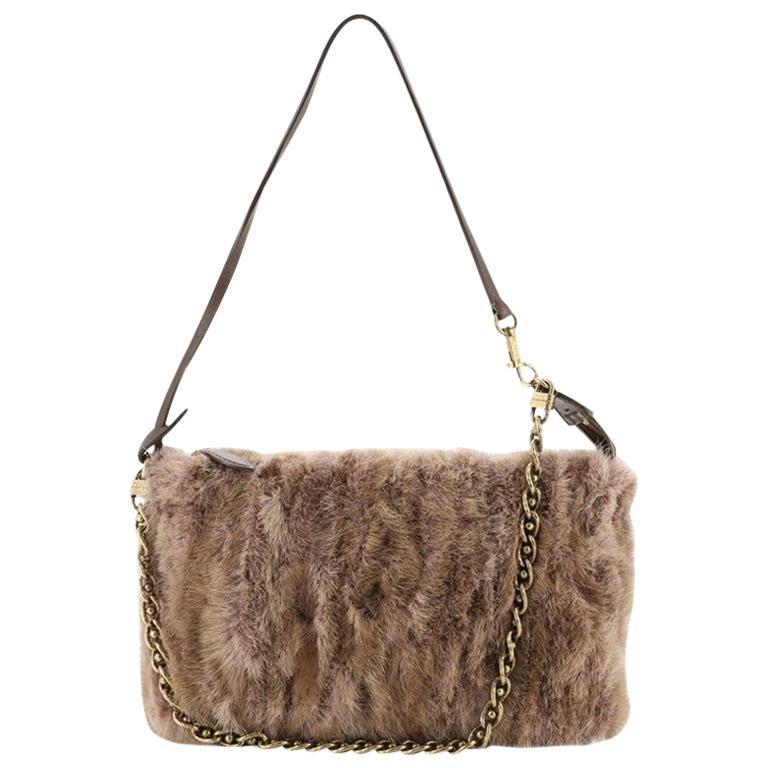 Louis Vuitton Pochette Accessoires Limited Edition Caresse Mink For Sale