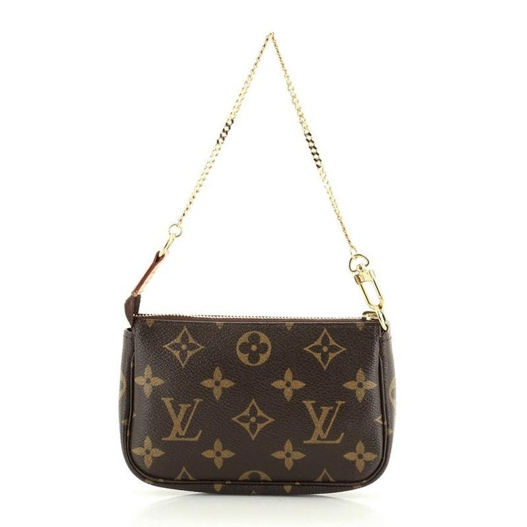Black Louis Vuitton Pochette Accessoires Monogram Canvas Mini For Sale