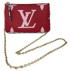 Louis Vuitton Pochette Double Zip Mono Giant Red/ Pink Bag