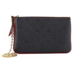 Louis Vuitton Pochette Double Zip Monogram Empreinte Leather