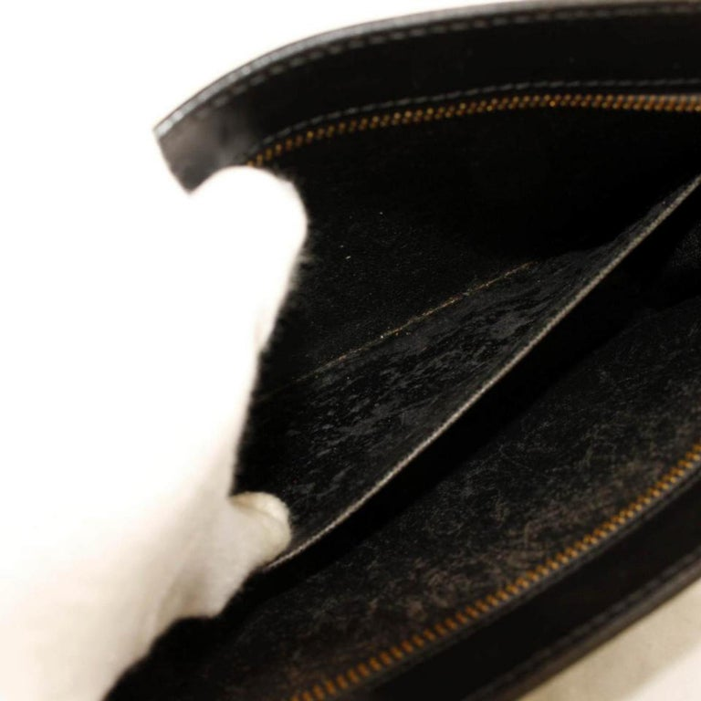 a26eaa5c58d0 Louis Vuitton Pochette Homme 866331 Black Leather Clutch In Good Condition  For Sale In Forest Hills