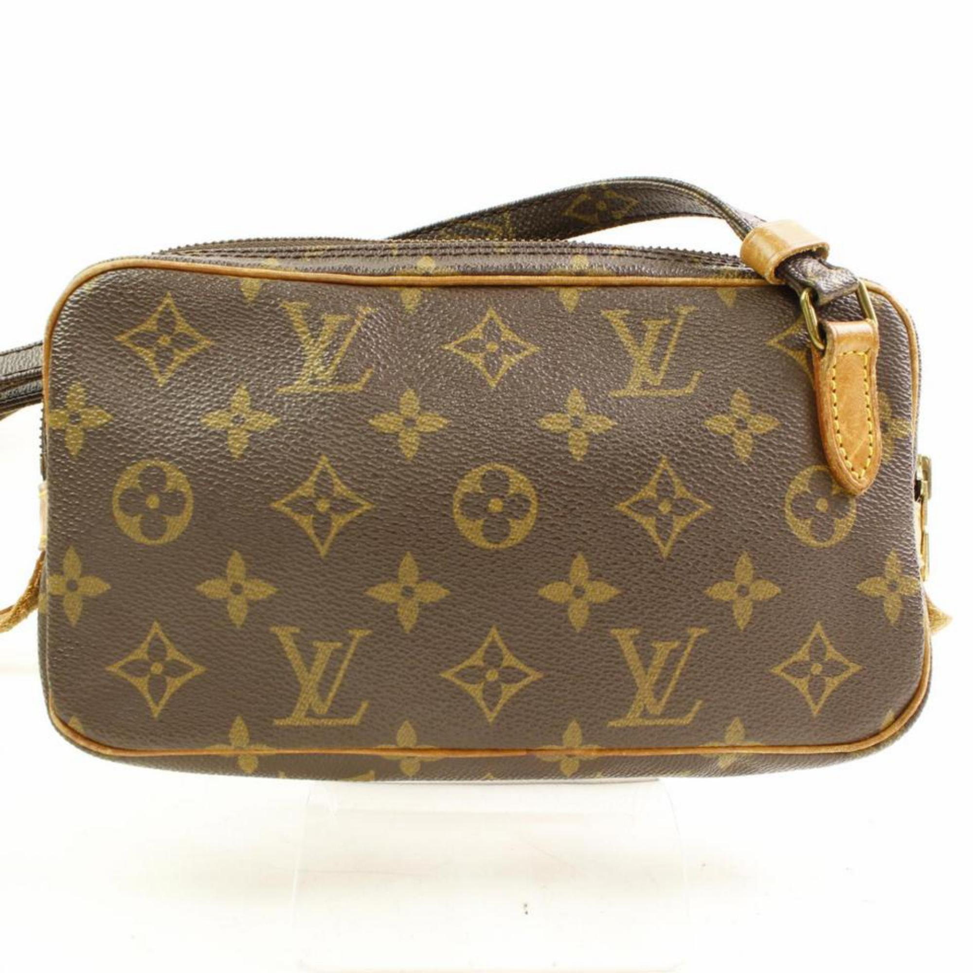 f0e7ea1ce5dc Louis Vuitton Pochette Marly Bandouliere 866610 Brown Canvas Cross Body Bag  at 1stdibs