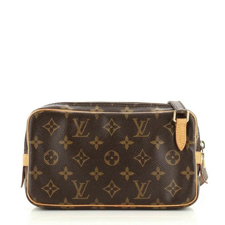 Black Louis Vuitton Pochette Marly Bandouliere Bag Monogram Canvas For Sale