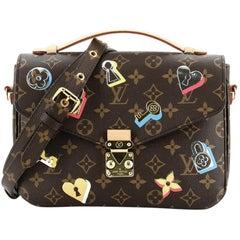 Louis Vuitton Pochette Metis Limited Edition Love Lock Monogram Canvas