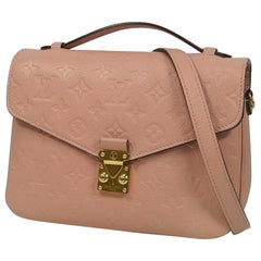 LOUIS VUITTON Pochette Metis MM Womens handbag M44018 rose Poudre