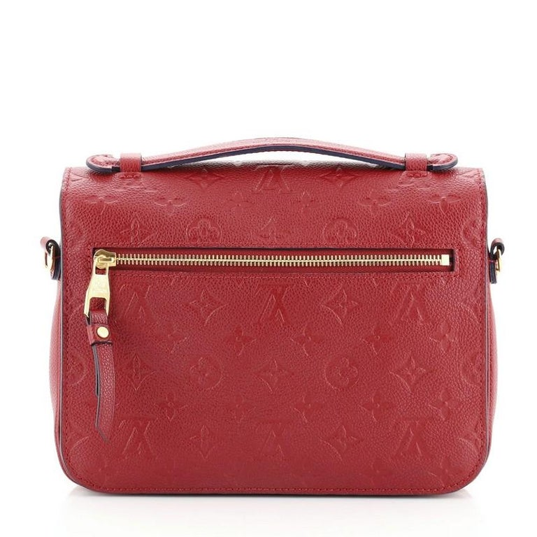 Louis Vuitton Pochette Metis Monogram Empreinte Leather In Good Condition For Sale In New York, NY