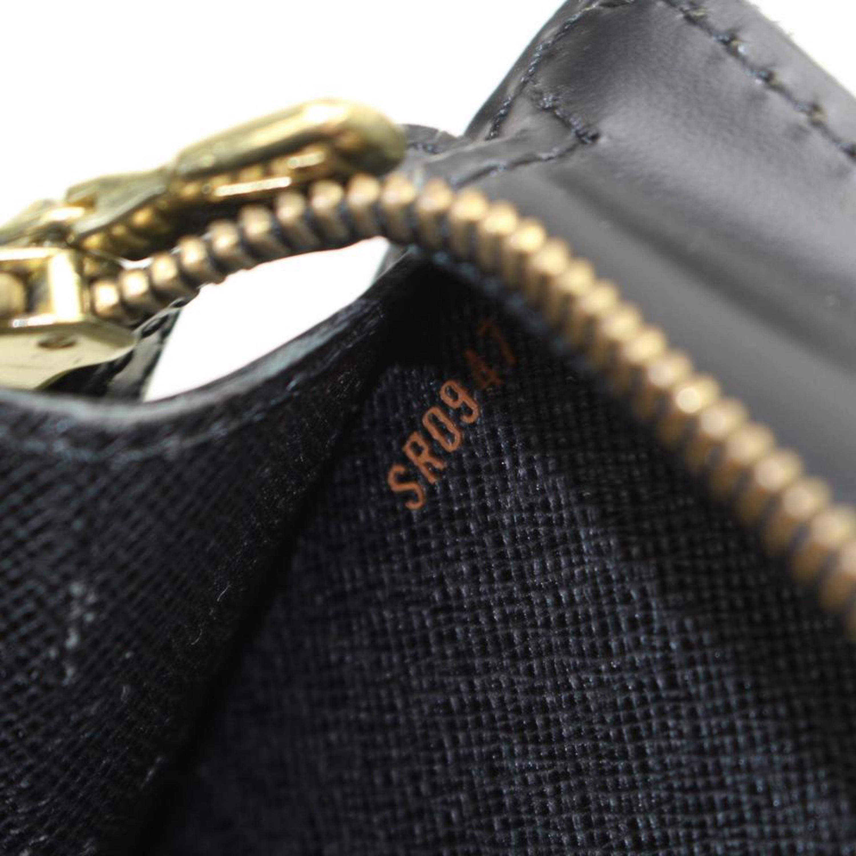 4c32521693b5 Louis Vuitton Pochette Noir Homme 869544 Black Leather Clutch For Sale at  1stdibs