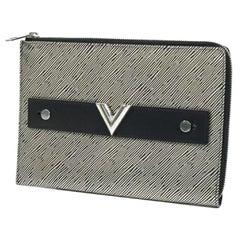 LOUIS VUITTON Pochette Pratt Mens clutch bag M62092 black x silver
