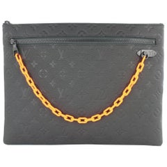 Louis Vuitton Pochette Ss19 Taurillon Chain 1lj0111 Black Leather Clutch