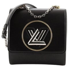 Louis Vuitton Pochette Twist Handbag Leather with Monogram Vernis