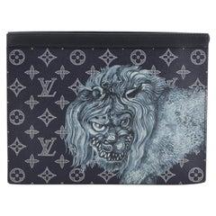 Louis Vuitton Pochette Voyage Limited Edition Chapman Savane Monogram Canvas MM