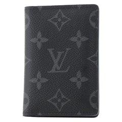Louis Vuitton Pocket Organizer Monogram Eclipse Canvas