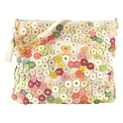 Louis Vuitton Polka Dot Fleur Morgane Handbag Embellished Canvas