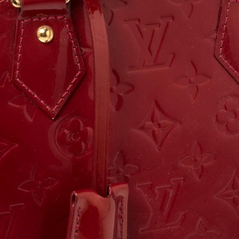 Louis Vuitton Pomme D'amour Monogram Vernis Alma BB Bag 1