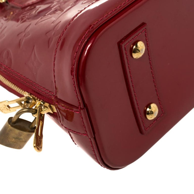 Louis Vuitton Pomme D'amour Monogram Vernis Alma BB Bag 3