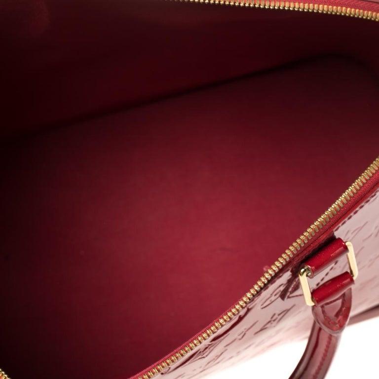 Louis Vuitton Pomme D'amour Monogram Vernis Alma GM Bag For Sale 2