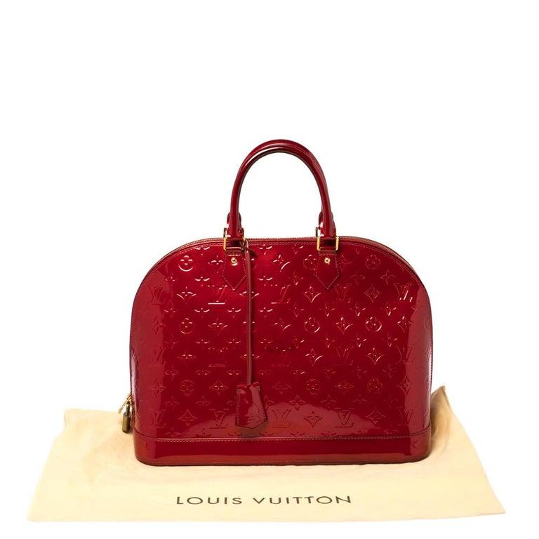 Louis Vuitton Pomme D'amour Monogram Vernis Alma GM Bag For Sale 3