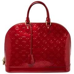 Louis Vuitton Pomme D'amour Monogram Vernis Alma GM Bag