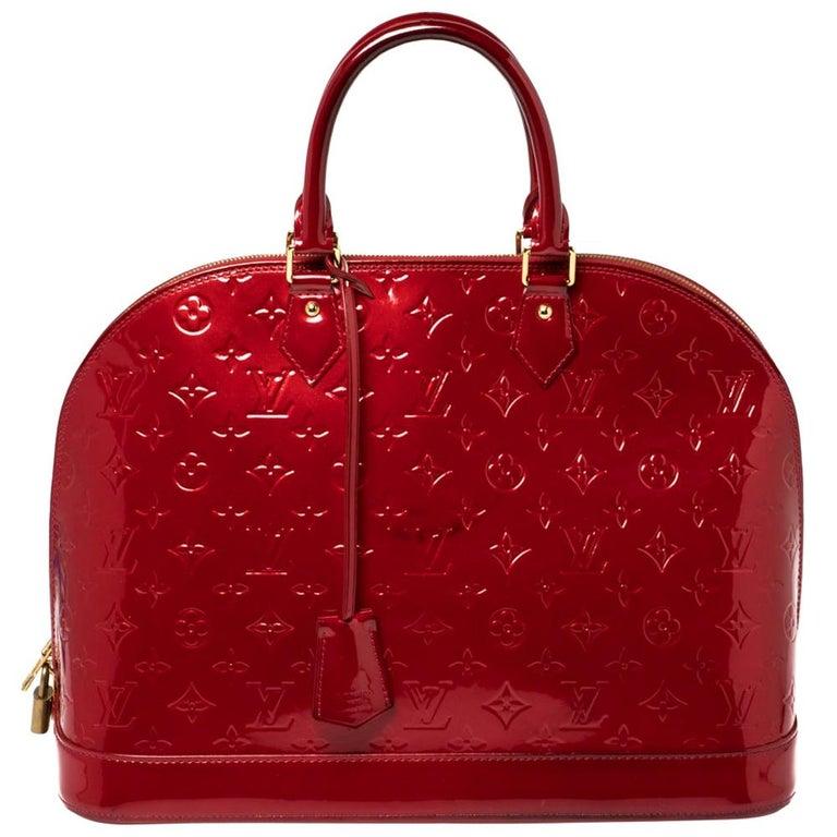 Louis Vuitton Pomme D'amour Monogram Vernis Alma GM Bag For Sale