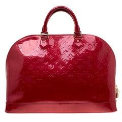 Louis Vuitton Pomme D'amour Monogram Vernis Alma Voyager Bag