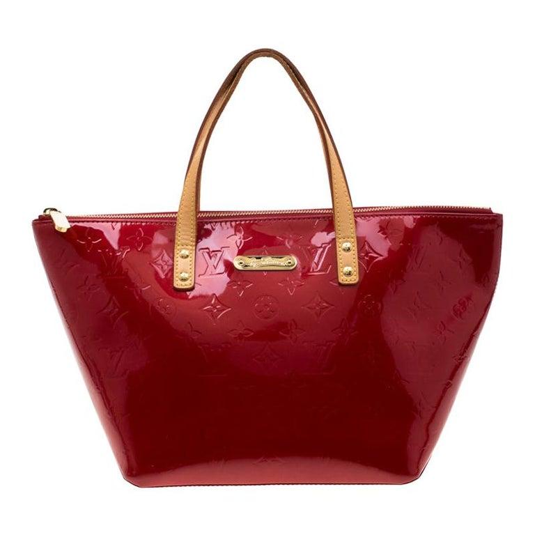 Louis Vuitton Pomme D'amour Monogram Vernis Bellevue PM Bag For Sale