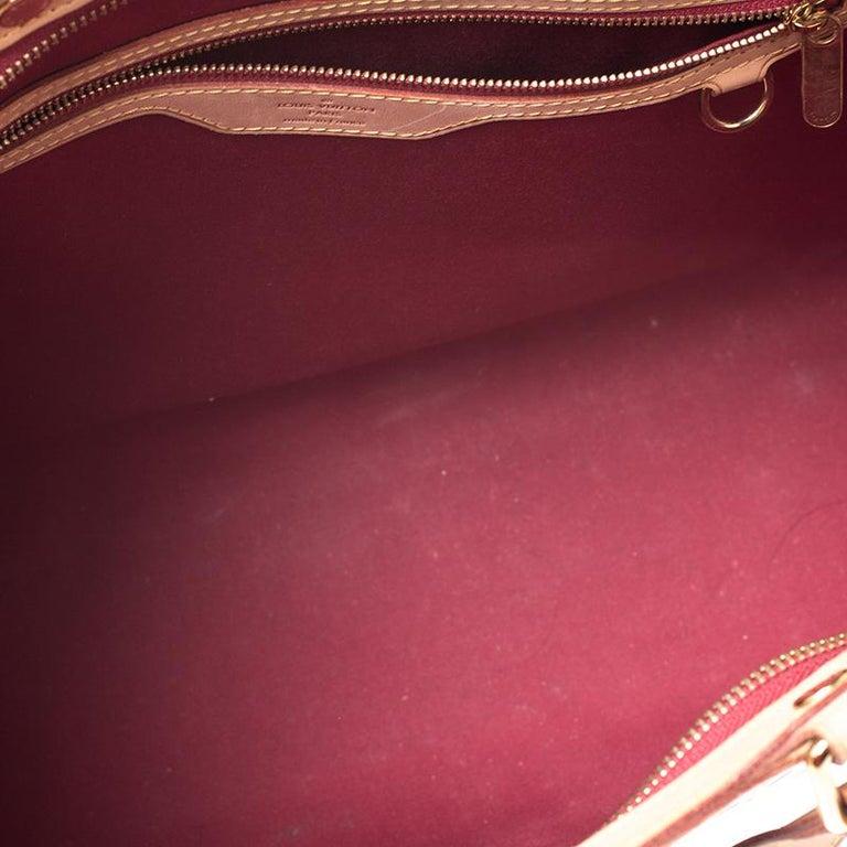 Louis Vuitton Pomme D'amour Monogram Vernis Brea GM Bag For Sale 8