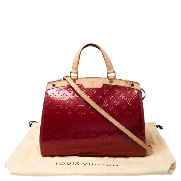 Louis Vuitton Pomme D'amour Monogram Vernis Brea GM Bag For Sale 9