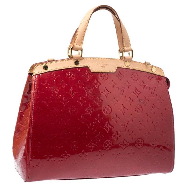 Women's Louis Vuitton Pomme D'amour Monogram Vernis Brea GM Bag For Sale