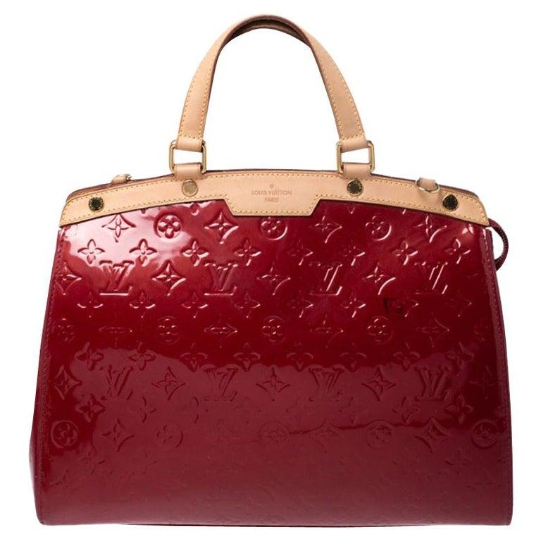 Louis Vuitton Pomme D'amour Monogram Vernis Brea GM Bag For Sale