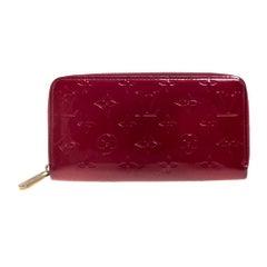 Louis Vuitton Pomme D'amour Monogram Vernis Zip Around Wallet