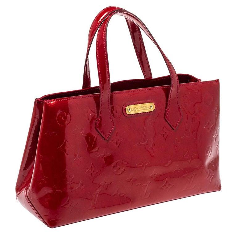 Red Louis Vuitton Pomme D'amour Vernis Wilshire PM Bag For Sale