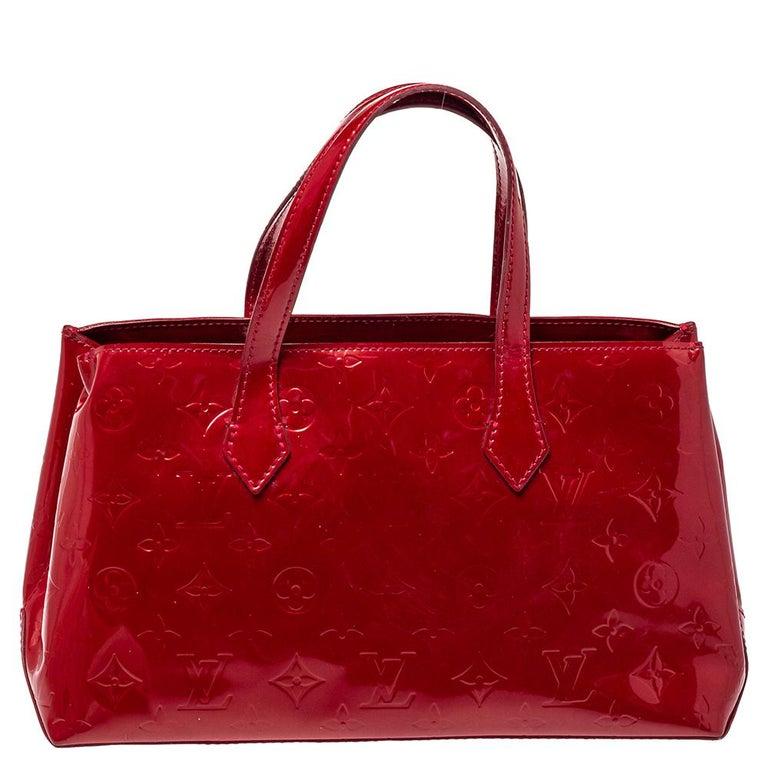 Louis Vuitton Pomme D'amour Vernis Wilshire PM Bag In Good Condition For Sale In Dubai, Al Qouz 2