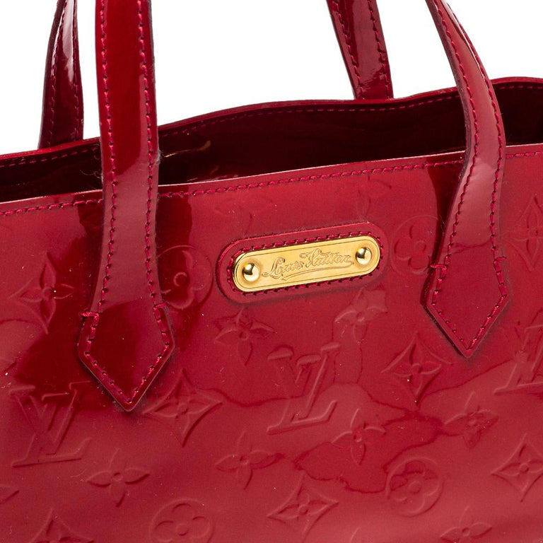 Louis Vuitton Pomme D'amour Vernis Wilshire PM Bag For Sale 3
