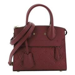 Louis Vuitton  Pont Neuf Handbag Monogram Empreinte Leather Mini