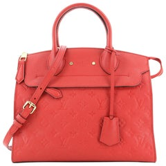 Louis Vuitton Pont Neuf Handbag Monogram Empreinte Leather MM
