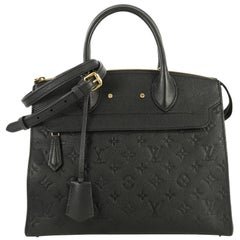 Louis Vuitton Pont Neuf Handbag Monogram Empreinte Leather MM