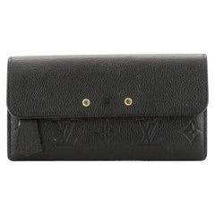 Louis Vuitton Pont Neuf Wallet Monogram Empreinte Leather Long