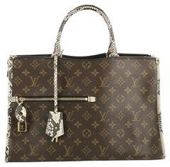 Louis Vuitton Popincourt NM Handbag Monogram Canvas with Python MM