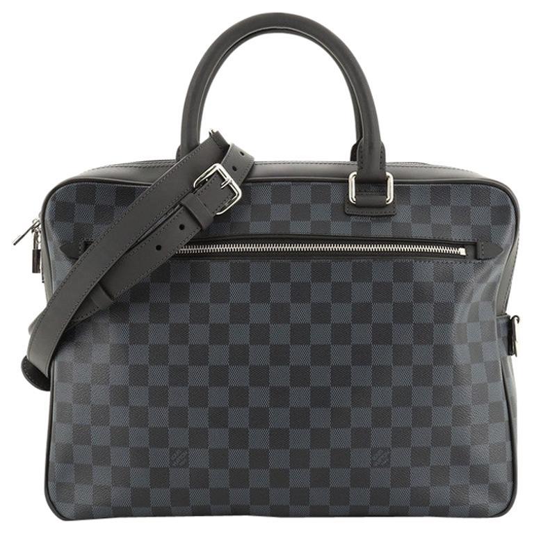 Louis Vuitton Porte-Documents Business Bag Damier Cobalt For Sale
