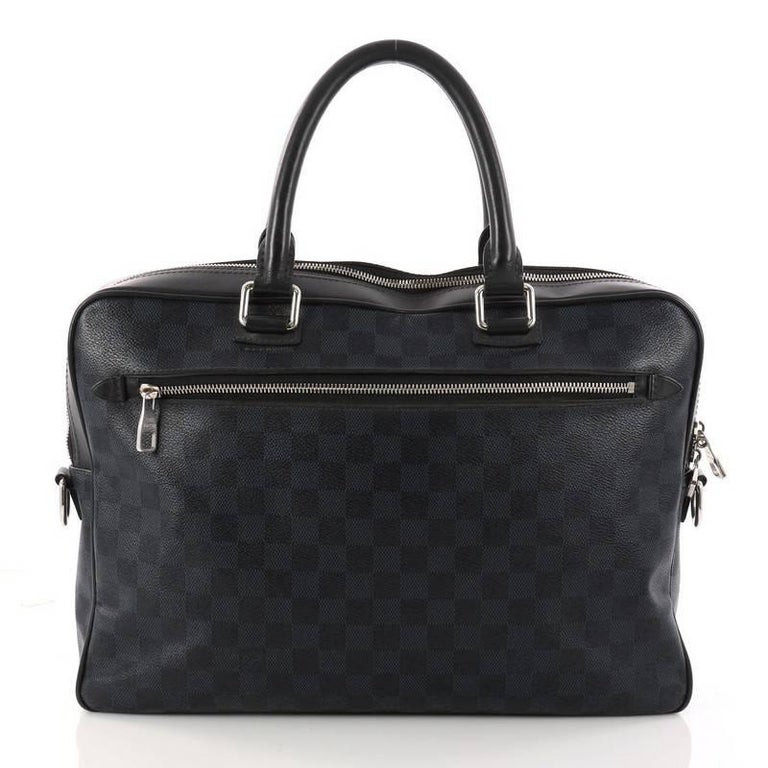 Louis Vuitton Porte-Documents Damier Cobalt Business Bag  In Good Condition For Sale In New York, NY
